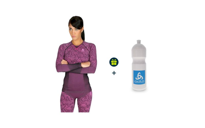 Odlo Pack Blackcomb Evolution Warm W + 1 bidon 700 ml offert pas cher